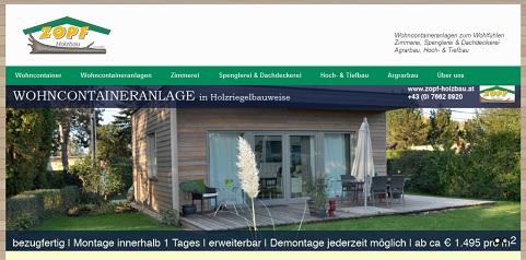 Zopf Holzbau Wohncontainer & Wohncontaineranlagen