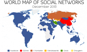 Weltkarte Sozialer Netzwerke